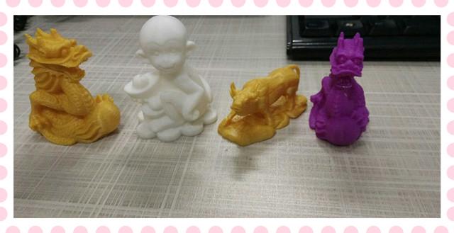 3D打印—生肖牛,猴,龙