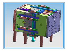 线程器模具总装图